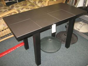 Telescope Casual Black Outdoor Buffet Table Porcelain Tile