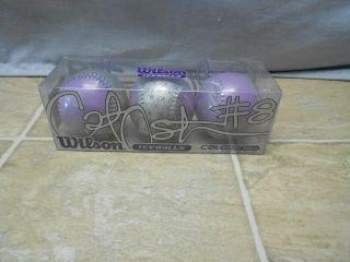Wilson Cat Osterman Signature Series (3) Teeball Set, Purple