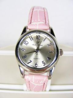 Charles Raymond Quartz Womans Stainless Steel Wrist Watch with Pink