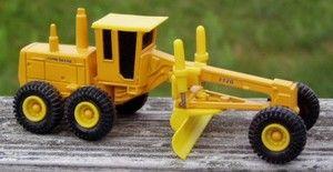 Nice Metal Plastic John Deere Road Grader 772B Toy Car Truck Diecast