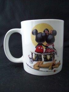 Disney Puppy Love Charles Boyer Mickey Minnie Pluto Mug