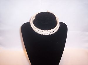 Cezanne 3 Strand Faux Pearl Choker Necklace New Tags