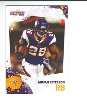 2010 Score Minnesota Vikings 12 Card Team Set w SP
