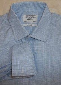 CHARLES TYRWHITT   GORGEOUS Baby Blue FC Cotton Dress Shirt 16.5 34