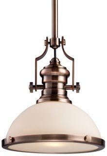 Chadwick Antique Copper Hanging Pendant Lighting 13 W