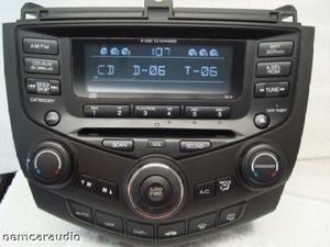 2005 2006 2007 Honda Accord Radio Aux 6 Disc CD Changer 7BK1