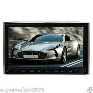 Double 2 DIN 7 in Motorized Car DVD CD VCD Radio Player Mic SWC Touch