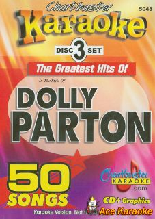 Chartbuster Karaoke CDG 3 Disc Pack CB5048 Dolly Parton