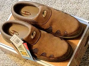 Pro Line Woo Daves Cedar Creek Mens Fishing etc Clogs Slip on Shoes