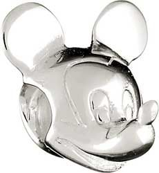 Chamilia Silver Disney Mickey Mouse Bead Authentic Dis 1