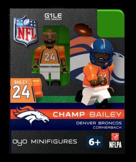 Champ Bailey OYO Mini Fig Figure Lego Compatible Denver Broncos NIP
