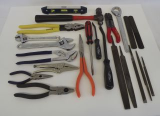 Assorted Tool lot 22pc Pittsburg Klein Craftsman Champion Hand Tools