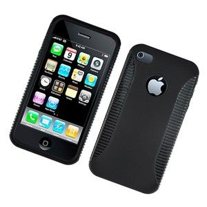 4S Hybrid Cell Phone Protector Case Hard Cover Black Design