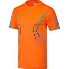 Adidas UEFA Champions League Training Jersey Shirt Warning Orange Mens