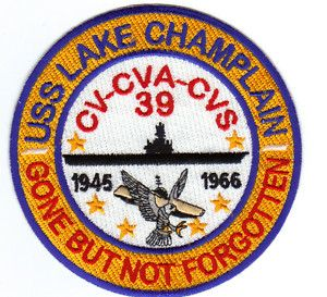 US Navy Carrier Patch USS Lake Champlain CV 39 Y
