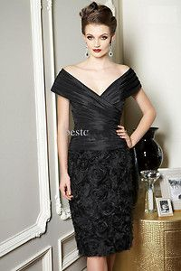 Black Rose Devise Wedding Mother of The Bride Dress