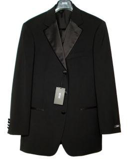 1595 Hugo Boss Black Wool Wedding Tuxedo Suit 36R 46