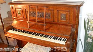 ANTIQUE CHAPPELL LONDON VICTORIAN ART CASE STUDIO UPRIGHT PIANO Burled
