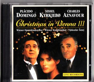 Sissel Kyrkjebo Domingo Charles Aznavour Christmas in Vienna Vol 3 CD