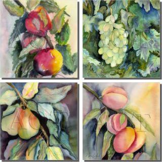 Neufeld Fruit Kitchen Ceramic Accent Tile Set Art