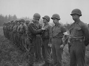 Photo of 2nd Ranger Battalion Awards Ceremony Belgium Fall 44