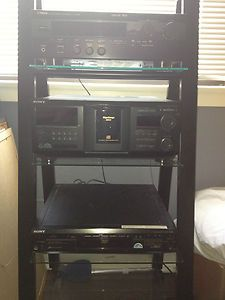 HOME STEREO SYSTEM WITH DVD PLAYER, 400 DISC CD PLAYER, SUBWOOFER