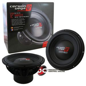 Cerwin Vega VMAX124 12 Dual 4 Ohm Car Audio Subwoofer 660715400603