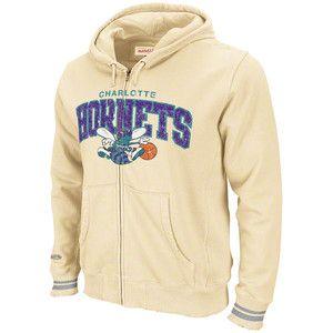 Charlotte Hornets Mitchell Ness Arch Full Zip Fleece Hoody XXL