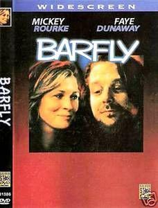 Barfly Charles Bukowski Mickey Rourke Faye Dunaway RARE DVD New