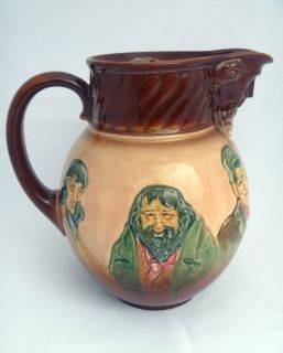 Royal Doulton Queensware Charles Dickens Memories Water Pitcher Jug