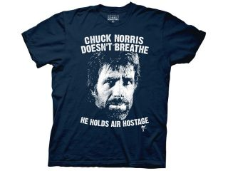 New Blue Chuck Norris T Shirt All Sizes Air Hostage Mens Funny Facts