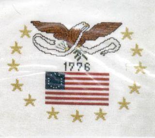 1776 United States Colonial Flag 13 Gold Stars Bald Eagle VTNS