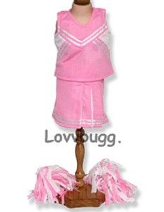 Pink Cheerleader with Pom Poms fits American Girl MULTI CLOTHES
