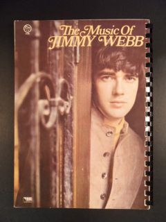Songbook The Music of Jimmy Webb Vocal Piano Guitar Mint Copy