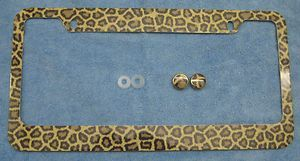 License Plate Frame Animal Print I Love Cheetahs Girls Honda