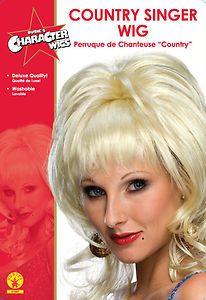 Dolly Country Singer Wig Blonde Celebrity TV Costume Hair Music Diva