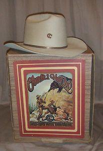 Charlie 1 Horse Buck 10X Quality Beaver Cowboy Hat 7 3 8 Vintage