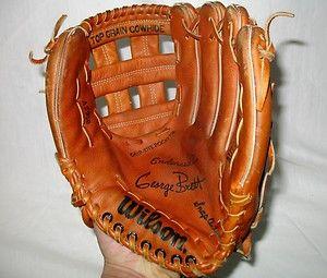 Vtg Wilson A2950 HOF K C Royals George Brett AG Model 12 Baseball