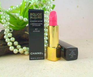 Chanel Rouge Allure Luminous Satin Lipstick 87 Joyeuse New in Box