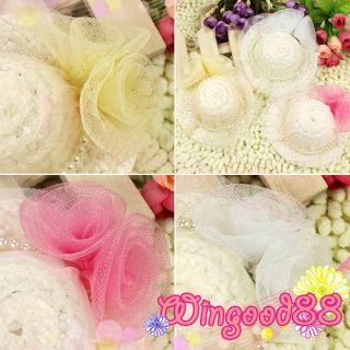1x Girls Kids Decoration Faux Fake Pearl Beads Hair Clip Mini Top Cute