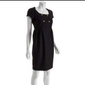 DIANE VON FURSTENBERG DVF Charo model black stretch dress US 8