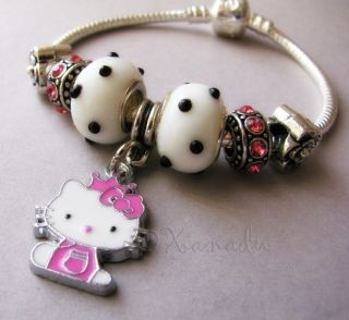 Kitty Princess European Charm Bracelet   Child, Small Sizes Available