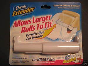 Charmin Toilet Paper Roll Holder Extender For Bigger Large Rolls White