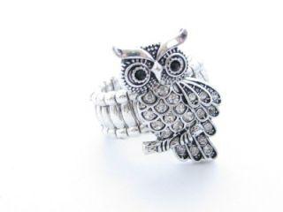 Owl Crystal Fashion Stretch Ring Jewelry Sorority