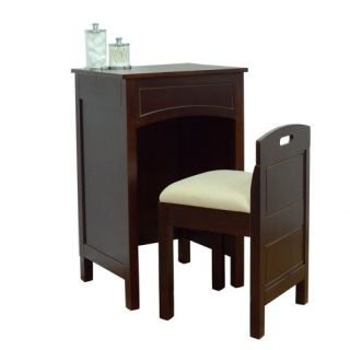 Lamont Home Cheswick Vanity Set Espresso Vanities Mirror Table Makeup