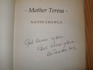 Hand Signed by Mother Teresa Official Biography Catholic 1st Edition
