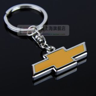Black Leather Chevrolet Chevy Key Chain Ring Fob Cruze Sonic Volt