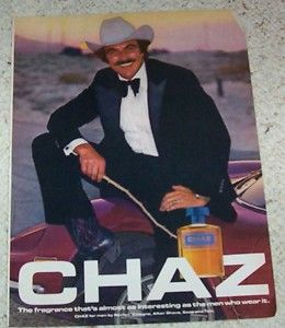 1980 Tom Selleck Cowboy Hat Chaz Mens Cologne Print Ad