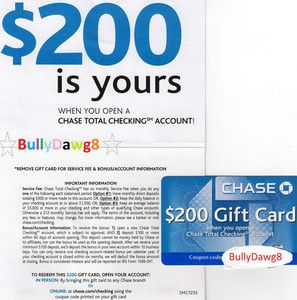 Chase checking account coupon no direct deposit