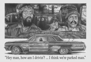 Cheech and Chong Tommy Marin Hippie Weed Smoke Reefer RARE Poster